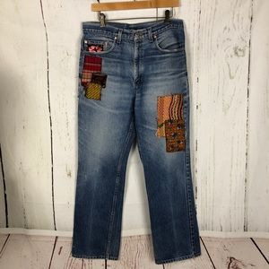 FP one free people 29 patchwork jeans Levi's ooak